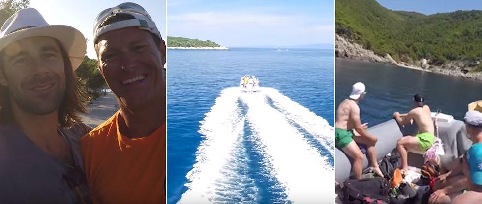 Ivica Kostelić in njegovi smučarski prijatelji preživljajo izjemen dopust na otoku Mljet