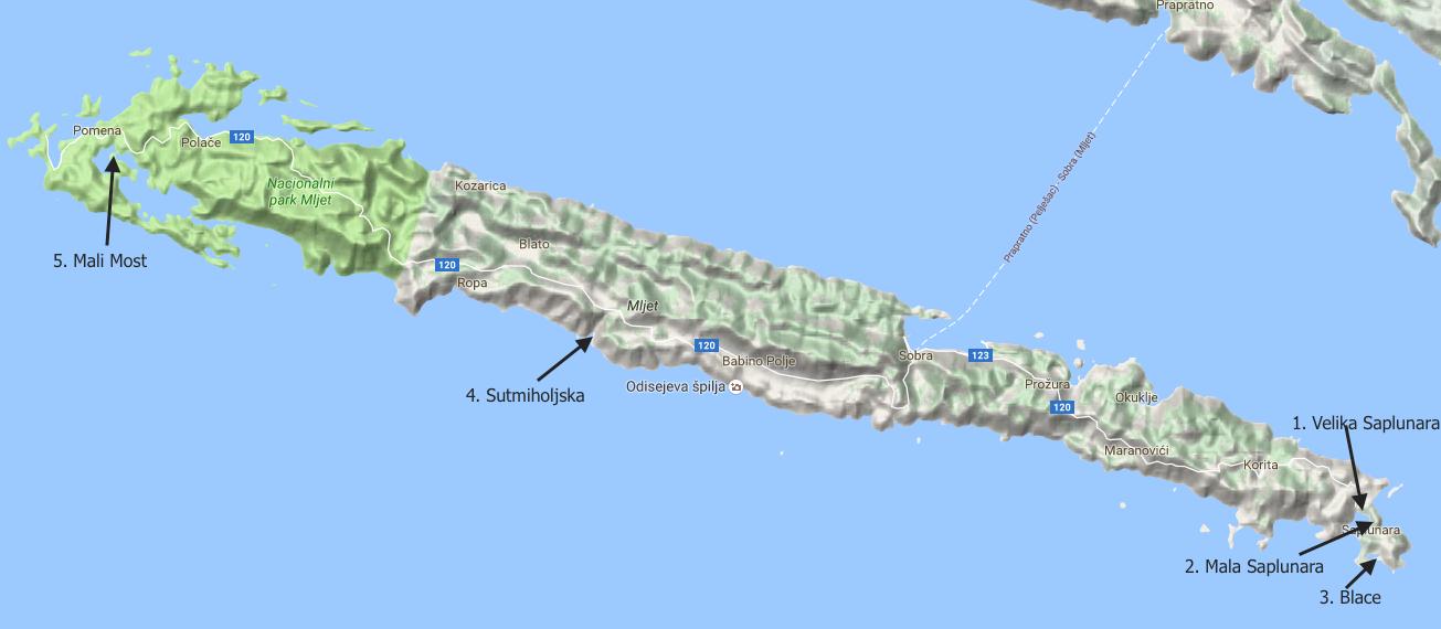 Top 5 plaž na otoku Mljet