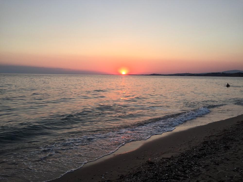 Ouzouni beach Grčija