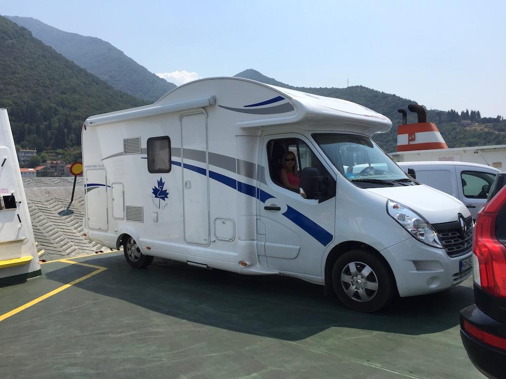 črna gora z avtodomom