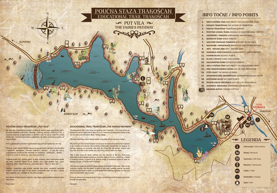 poučna pot okrog jezera trakošćan