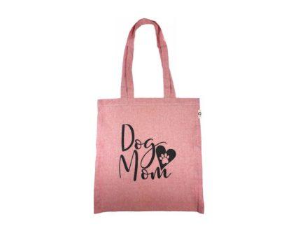 eko vrecka roza barve - Dog Mom