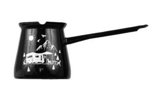 emajlirana džezva črne barve