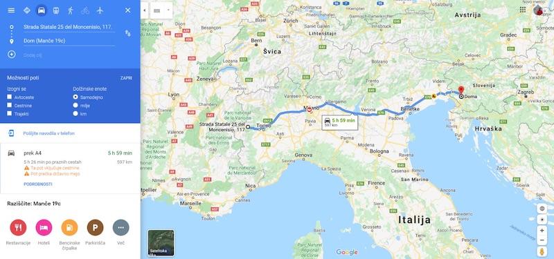 normandija avtodoma zemljevid